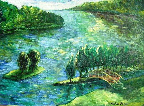 Pierre Putica, Boi de Boulogne, Landscapes: Summer, Expressionism