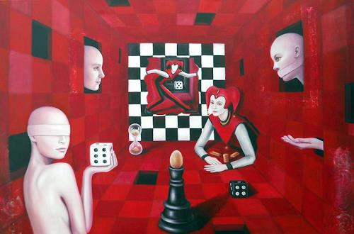 Ela Nowak, Die Sinne im Machtspiel der Menschheit-2, Miscellaneous Emotions, People: Group, Post-Surrealism