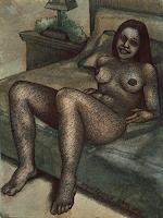 Rajesh-Rana-Erotic-motifs-Female-nudes-People-Women-Modern-Age-Naturalism