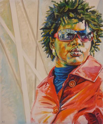 Angela Selders-Kanthak, Liss I, People: Women, People: Portraits, Realism, Abstract Expressionism