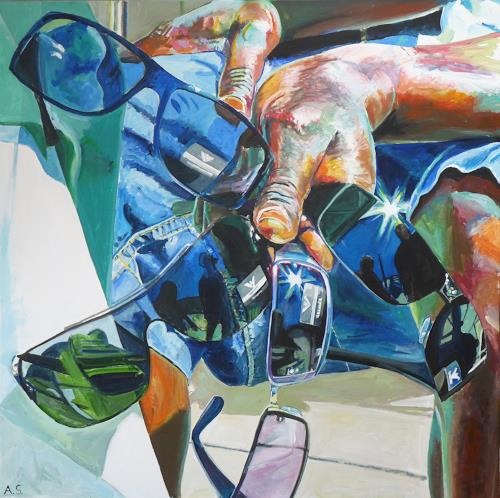 Angela Selders-Kanthak, Durchblicke, Still life, Realism, Abstract Expressionism