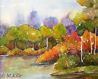 Meltem-Kilic-Landscapes-Autumn-Nature-Water-Contemporary-Art-Contemporary-Art