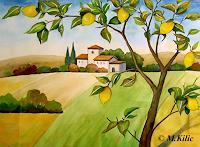 Meltem-Kilic-Landscapes-Summer-Plants-Fruits-Contemporary-Art-Contemporary-Art