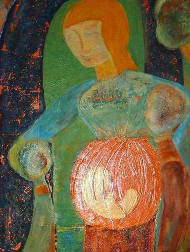 Jutta Regina Frederiks, mother forever, Fantasy, Abstract Art