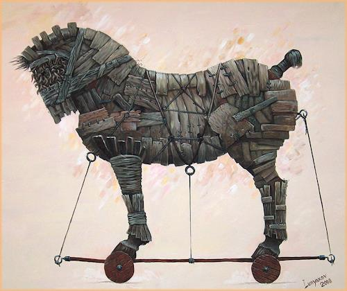 Sascha Lunyakov, Troyan, Miscellaneous Animals, Mythology, Abstract Expressionism