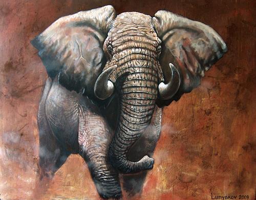Sascha Lunyakov, from darkness, Miscellaneous Animals, Decorative Art, Expressionism