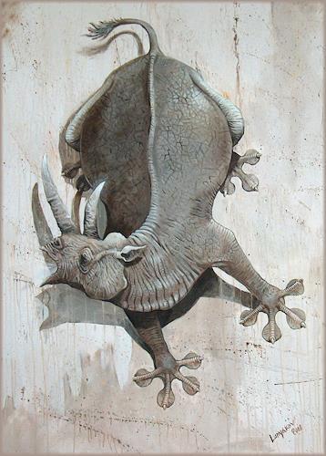 Sascha Lunyakov, Gekko, Animals: Land, Humor, Abstract Expressionism