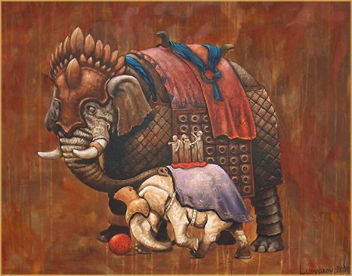 Sascha Lunyakov, Warelephant, Miscellaneous Animals, Decorative Art