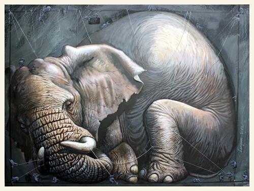 Sascha Lunyakov, Gulliver, Animals: Land, Decorative Art, Abstract Expressionism