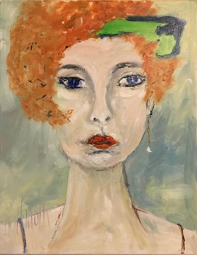 Ruth Roth, Portrait Adele, People, People: Portraits, Others, Abstract Expressionism