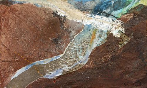 Reimund O. Boderke, Brückenschlag I, Abstract art, Nature: Miscellaneous, Contemporary Art
