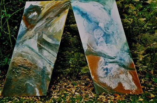 Reimund O. Boderke, Erdgeboren + Verflüssigt (Dyptikon), Abstract art, Contemporary Art