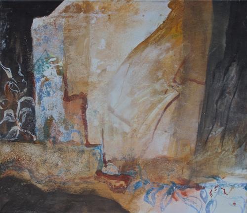 Reimund O. Boderke, Ahnung von Orientalischer Nacht, Romantic motifs, Poetry, Expressive Realism, Abstract Expressionism