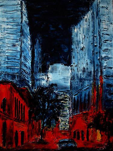 Edelgard Sprengel, New York by Night, Abstract art, Interiors: Cities, Contemporary Art, Abstract Expressionism