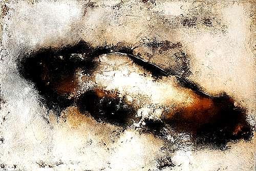 "Edelgard Sprengel, Im Kokon geborgen, Zyklus ""Alles im Fluss, Abstract art, Emotions, Contemporary Art"