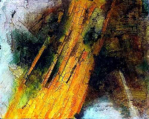 Edelgard Sprengel, Sahara - Algerein, Zyklus Erde von oben, Abstract art, Landscapes, Contemporary Art