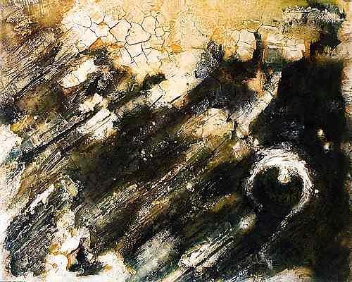 Edelgard Sprengel, Gweni Fada Krater - Tschad, Zyklus Erde von oben, Abstract art, Landscapes, Contemporary Art