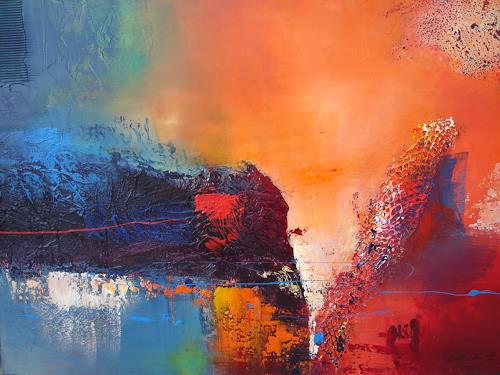 Silvia Sailer, Sehnsucht, Abstract art, Landscapes: Sea/Ocean, Modern Age, Abstract Expressionism