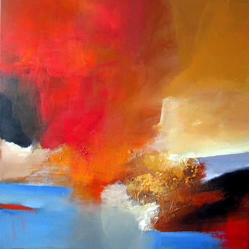 Silvia Sailer, Herbstzeitlose, Abstract art, Landscapes: Autumn, Abstract Art, Expressionism