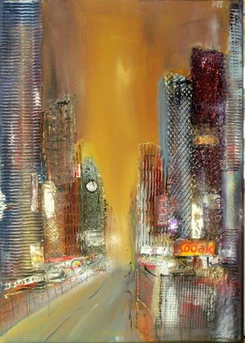 Silvia Sailer, New York, Buildings: Skyscrapers, Interiors: Cities, Abstract Art, Expressionism