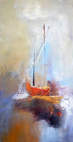 Silvia Sailer, Segeltörn, Landscapes: Sea/Ocean, Verkehr: Ship, Contemporary Art, Expressionism