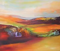 Silvia-Sailer-Landscapes-Hills-Landscapes-Autumn-Contemporary-Art-Contemporary-Art
