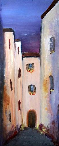 Silvia Sailer, Gasse in Rovinj, Buildings: Houses, Architecture, Contemporary Art
