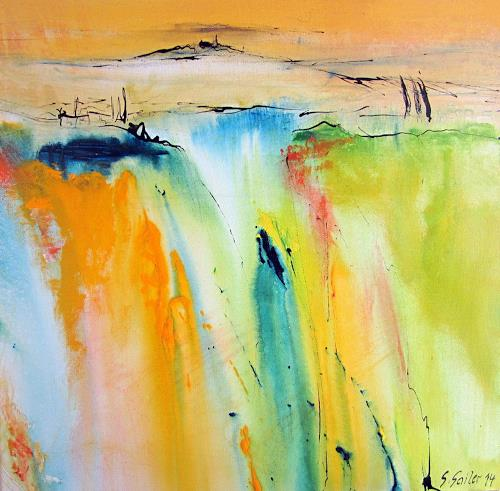 Silvia Sailer, Toskanischer Sommer II, Landscapes: Mountains, Landscapes: Summer, Contemporary Art, Abstract Expressionism
