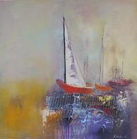 Silvia-Sailer-Verkehr-Ship-Landscapes-Sea-Ocean-Contemporary-Art-Contemporary-Art