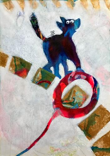 Barbara Stäger, N/T, Burlesque, Fantasy, Contemporary Art, Abstract Expressionism