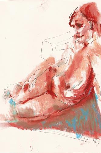 diemalerin-connystark, Akt, Erotic motifs: Female nudes, Miscellaneous Erotic motifs, Contemporary Art