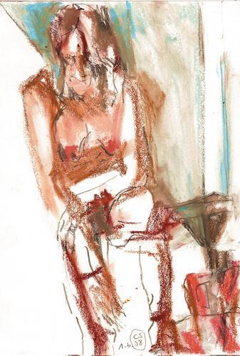 diemalerin-connystark, N/T, Erotic motifs: Female nudes, Miscellaneous Erotic motifs, Contemporary Art