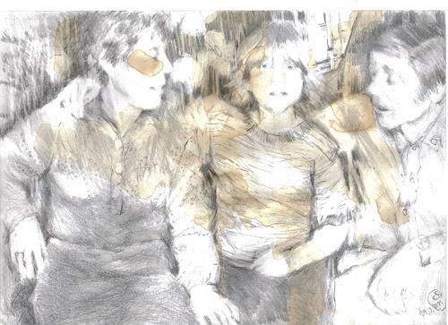 diemalerin-connystark, Platzmangel, People: Families, People: Children, Contemporary Art