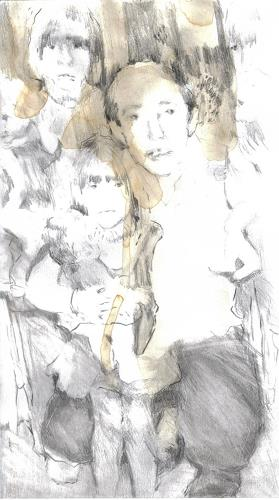 diemalerin-connystark, Zwei und ein Halbes, People: Families, People: Children, Contemporary Art
