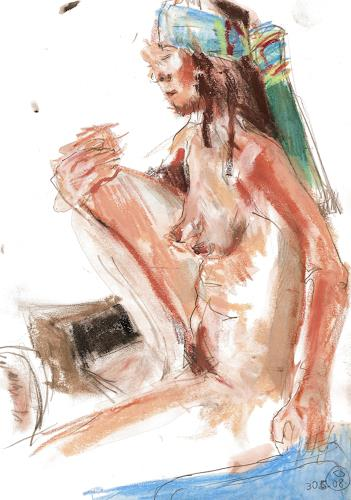 diemalerin-connystark, Akt, Erotic motifs: Female nudes, People: Women, Contemporary Art