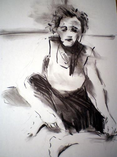 diemalerin-connystark, Trauer um den Sohn, Emotions: Grief, People: Women, Contemporary Art, Abstract Expressionism