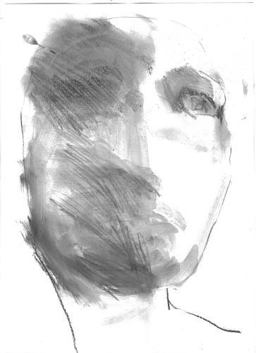 diemalerin-connystark, Gesichtete Verletzung, People: Faces, Contemporary Art, Abstract Expressionism