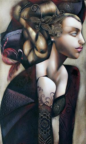 Ira Tsantekidou, Träumende, 60x100, People: Women, People: Portraits, Expressionism