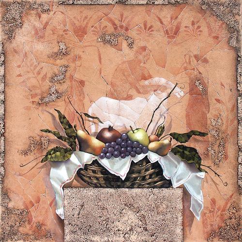 Ira Tsantekidou, Stilleben mit Fresco, 90x90, Symbol, Meal, Expressionism