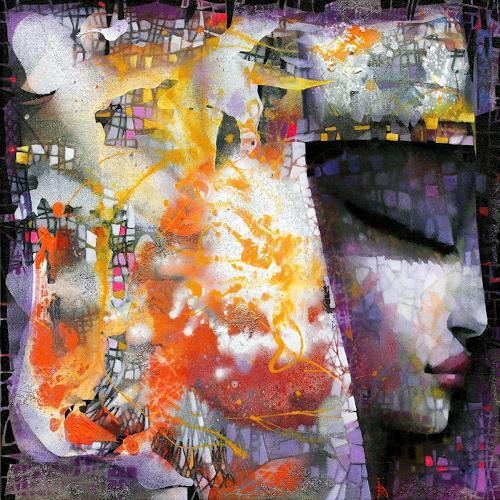 Ira Tsantekidou, Dreaming Goddess, 100x100, People: Women, Art Déco, Expressionism