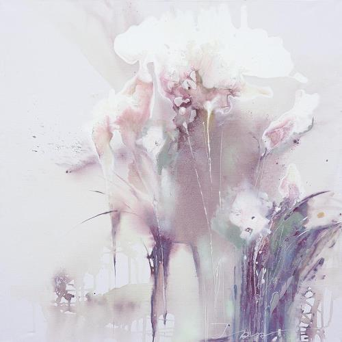 Ira Tsantekidou, Flowers 4, 150x150, Plants: Flowers, Art Déco, Expressionism