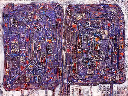 Wlad Safronow, Zwei Spiralen, 60x80, Abstract art, Architecture, Expressionism