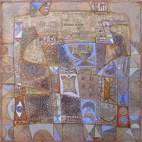 Wlad Safronow, Series Feelings, Stadt am Morgen, 80x80, Abstract art, Miscellaneous Emotions, Expressionism