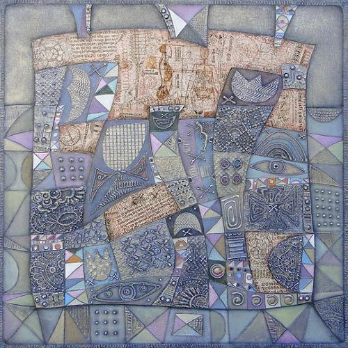Wlad Safronow, Series Feelings, Winterabend, 80x80, Abstract art, Miscellaneous Romantic motifs, Expressionism