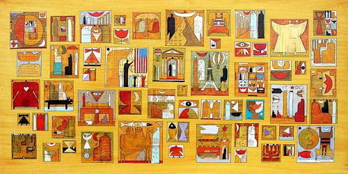 Wlad Safronow, all around the world 1, 80x160, History, Symbol, Expressionism