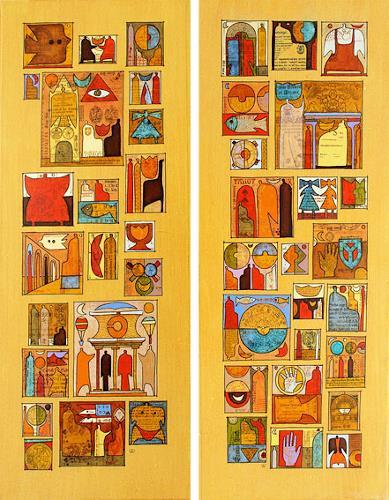 Wlad Safronow, all around the world 2+3, je 100x40, Fantasy, Symbol
