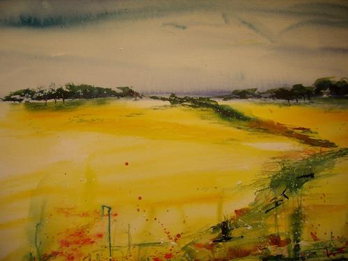 Sigrun Laue, Raps in Mecklenburg, Landscapes: Plains