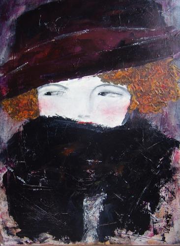 Sigrun Laue, Dame im Pelz, People: Women, Expressionism