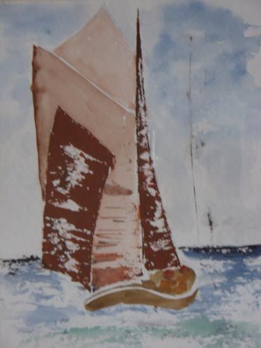 Sigrun Laue, Zeesboot, Landscapes: Sea/Ocean