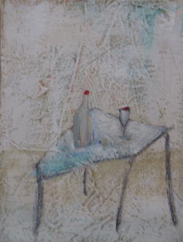 Sigrun Laue, gedeckter Tisch, Interiors: Rooms, Expressionism